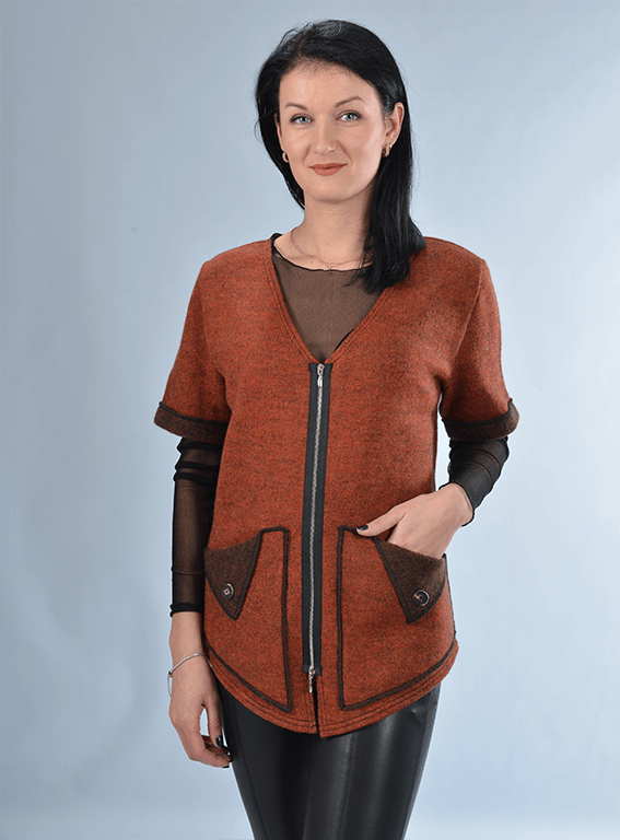 Rudas megztinis